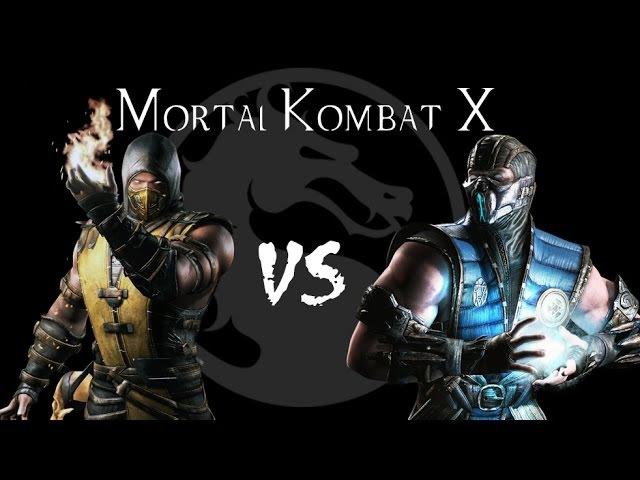 Mortal Kombat X - Скорпион vs Саб-Зиро
