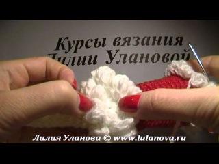 Снегурочка - вязание крючком на бутылку