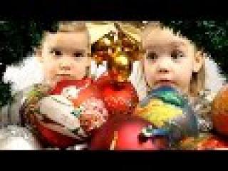 Видео про НОВЫЙ ГОД 2016 для детей! Новогодние игрушки на елку.  Ждем Рождество.