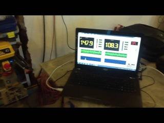 Замер звукового давления усилителя ARIA AP-D2000. Подключение в 1 Ом мощность усилителя GAIN 3/4
