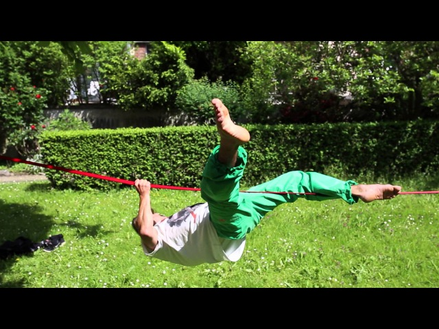Slackline-Tutorial Mantle Mount (Getting from below the line onto the top)