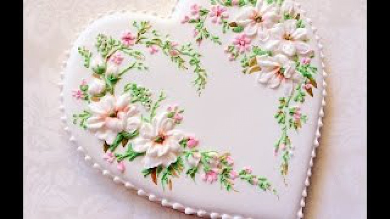 How to pipe Royal icing flowers.My little bakery.