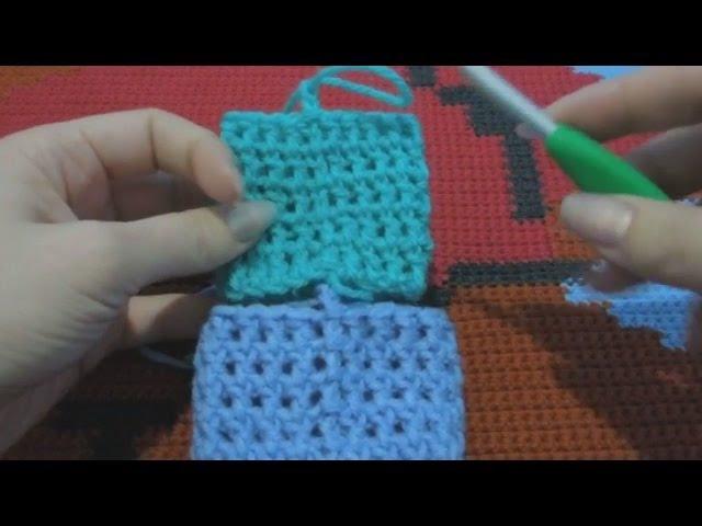 Идеально ровный шов при круговом вязании столбиками с накидом (2 способа)