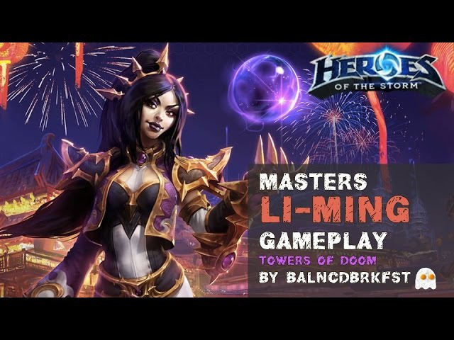 Heroes of the Storm Ranked Gameplay - Li-Ming (Wizard) Endless Heavy Damage Build