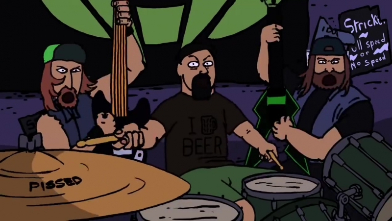 Municipal Waste You're Cut Off o This is some fucking badass animation