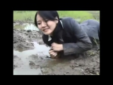 wet and muddy japanese girls