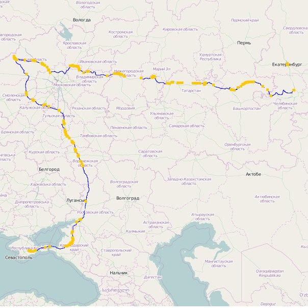 Схема проезда (синий - маршрут