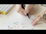 DohVinci Russia 1 видеоурок - как сделать красивую открытку | Курс мэйл-арта для DohVinci.ru