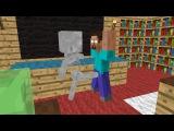 Monster School: Brave - Minecraft Animation - Skeleton kicks balls of Herobrine, hes so brave :))