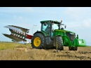 John Deere 7260R 7 furrow LO 100 on-land ploughing / ploegen - Thes Agro