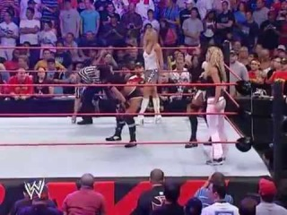 Trish Stratus and Ashley vs Victoria, Candice Michelle and Torrie Wilson