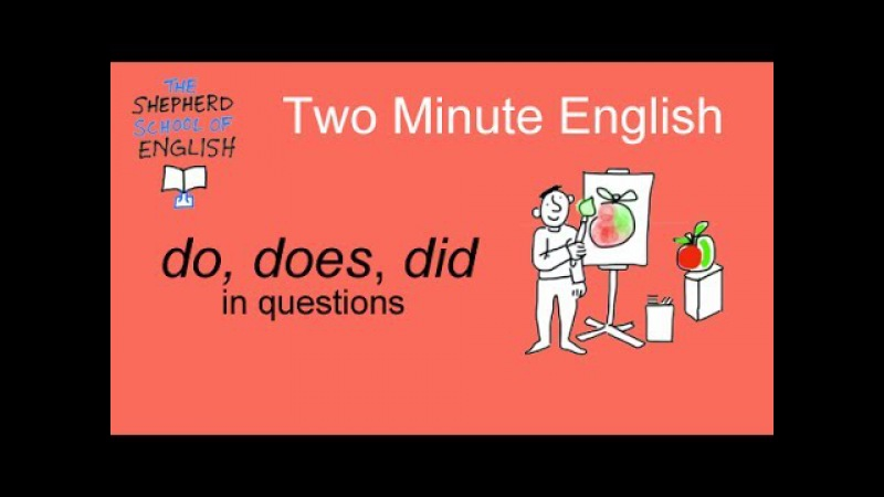 Do, does and did in questions