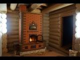 Каминопечь с двумя тепловыми сидушками и хлебной камерой.