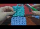 Идеально ровный шов при круговом вязании столбиками с накидом (2 способа) Звук громче, но с шумом