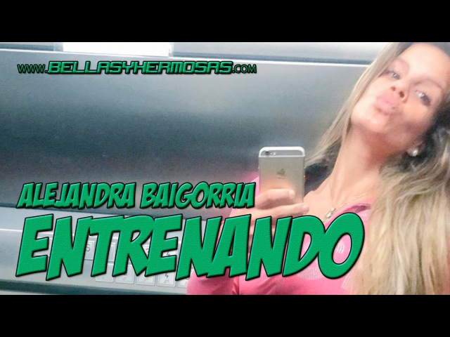 Alejandra Baigorria entrenando y pegando fuerte