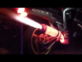 FIRE THROWING Motorcycle Exhaust