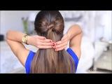 Как сделать бант из волос / Как сделать бантик из волос самой себе