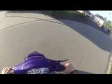От полиции на скутере ужас