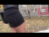 ШИКарная студентка в короткой юбке !!! SEXy Girl !!! BIG ASS !!! FULL HD 720