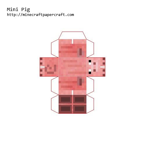 Как сделать из бумаги свинью из майнкрафта