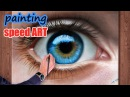 How To Draw a realistic Eye painting in dry brush Speed Drawing malen zeichnen