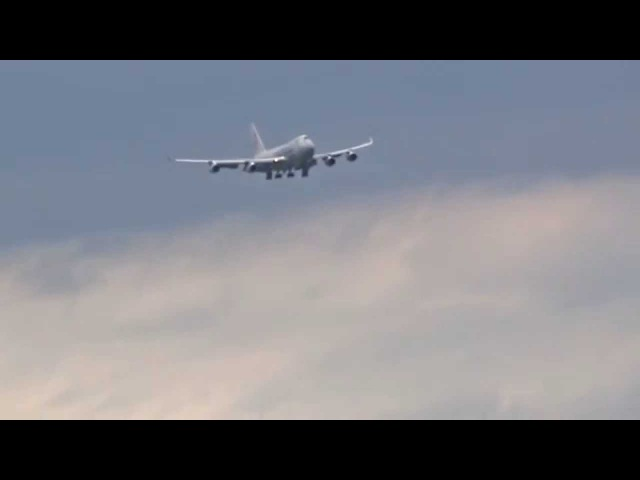 Боинг 747 в Толмачево (Новосибирск).Cargolux Italia(Full HD) от нашего подписчика