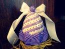 Styropianowe jajko z cekinami