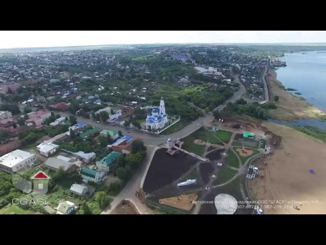 Аэросъемка Никольского собора (г. Чистополь)