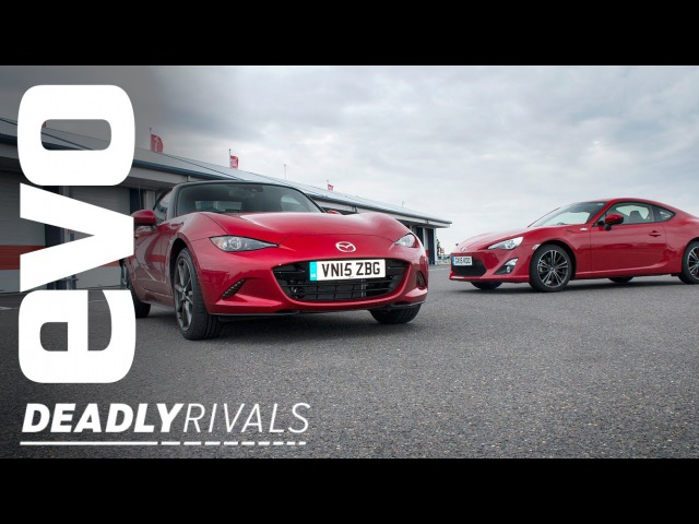 Toyota GT86 vs Mazda MX5 | evo DEADLY RIVALS