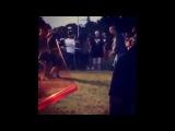Chris Brown, August Alsina & DJ Khaled on the set of