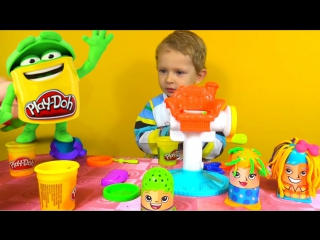 Play Doh Crazy Cuts. Сумашедшие прически, Плей До пластилин, набор играем в парикхмахера