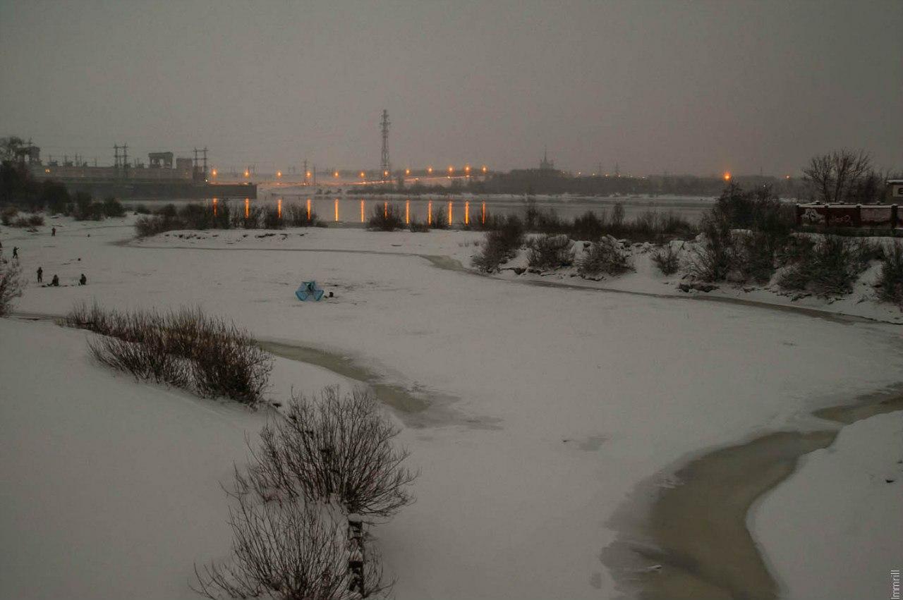 Устье Гайвы и Камская ГЭС