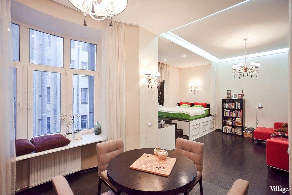Интерьер квартиры-студии 41 м в Санкт-Петербурге.