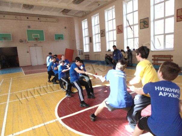 В поселке Нижний Архыз прошли межшкольные соревнования «А ну-ка, парни!»