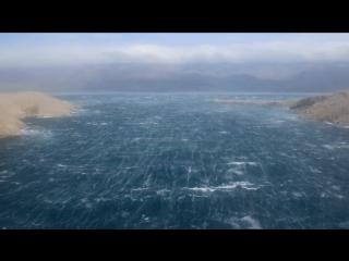 Штормовой ветер в Хорватии