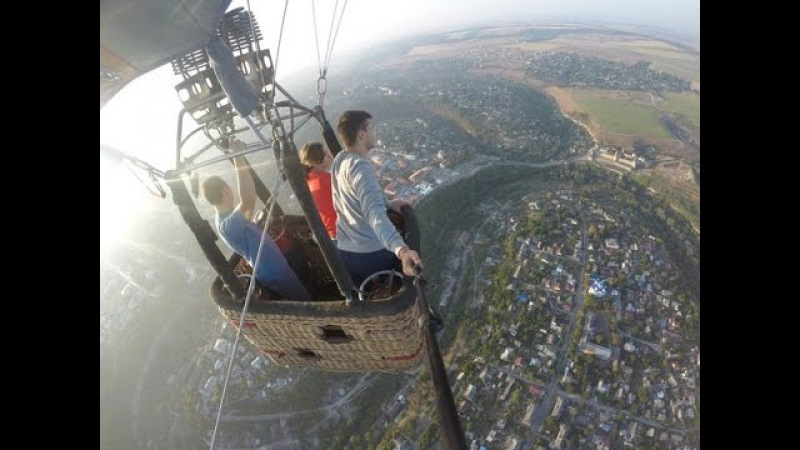 Kamyanets-Podilsky fly on the ballon GOPRO