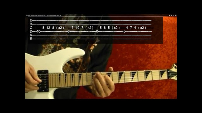 Master of Puppets Solo - METALLICA - Guitar Lesson ✅✅🎵