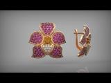 Серьги Цветы в Рино. Earrings Flowers in Rhinoceros 3D