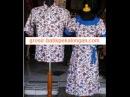 Grosir SD294 batikpekalongan sarimbit dress kerahbulat putih fachri