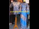 Grosir SL253 batikpekalongan sarimbit gamis V silang zahra