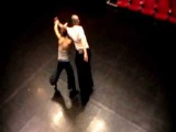 Aikido dance partnering from above
