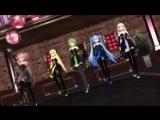 (MMD) Teto Kasane, Lily, Gumi, Hatsune Miku. IA - Sexy Love