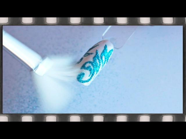 Втирка блесток в гель лак Дизайн ногтей бархатный песок блестками. Новогодний маникюр