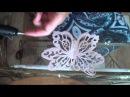 Бабочка из шифона Гильоширование Часть2