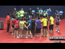 China Team Men vs Women Rare Serve Pressure Training