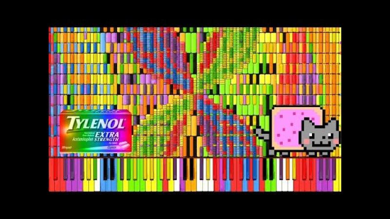 [Black MIDI] Synthesia – Nyan Trololol | Rainbow Tylenol Nyan Cat Remix ~ BusiedGem