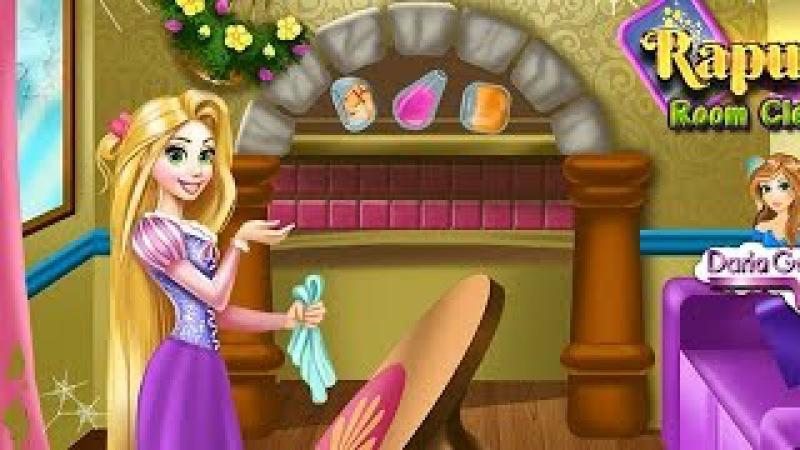 NEW Мультик онлайн для девочек—Рапунцель украшение комнаты—Игры для детей