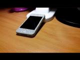 Комплект Наклеек на айфон 4 Серебро с блестками