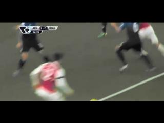 Передача пяткой Жиру и гол Месута Озила | Арсенал - Борнмут | #MyFootballVine