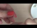 Делаем серьги из бисера и риволи. Making bead earrings and Rivoli